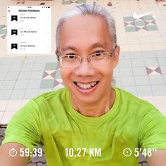 """Distance and #fartlek. First #pb in 2017!  10K under 58 minutes. Was 59:03 at 5'51""""  Had hard time syncing my breath with steps in first 4K. Corrió 1027 km con Nike Run Club   #hm #halfmarathon #halfmarathontraining #fit #fitness #stamina #training #running #runningman #run #runforlife #workout #workoutchallenge #motivation #nrc #justdoit #health #healthy #life"""