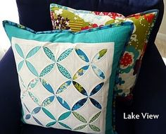 Cathedral Window Pillows - I want to do a whole quilt like this one day. Quilting For Beginners, Quilting Tutorials, Quilting Projects, Sewing Projects, Quilting Tips, Sewing Tutorials, Sewing Crafts, Craft Projects, Craft Ideas