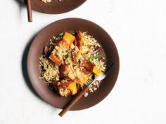 Roasted Pumpkin with Quinoa, Dates and Sage recipe from Tyler Florence via Food Network