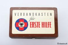 Vintage ADAC First Aid Box Medical Kit