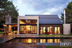25 Contemporary Farmhouse Exterior Design Ideas - Interior design is indeed the main thing in creating space. However, it was the house facade that was first assessed for aesthetics. by Joey Architecture Design, Farmhouse Architecture, Modern Farmhouse Exterior, Farmhouse Design, Farmhouse Style, Swedish Farmhouse, Urban Farmhouse, Rustic Farmhouse, Farmhouse Ideas