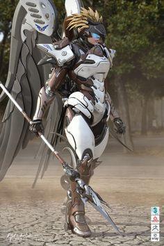 Samira on Behance Robot Concept Art, Weapon Concept Art, Armor Concept, Robot Art, Fantasy Character Design, Character Concept, Character Art, Chica Gato Neko Anime, Cyberpunk Girl