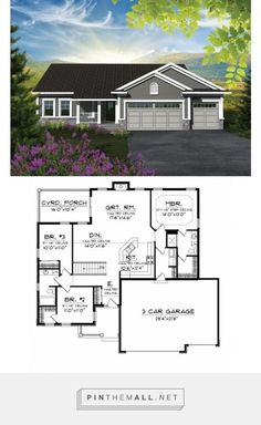 Garage house plans - ePlans Craftsman House Plan Affordable But Spacious Craftsman Ranch 1501 Square Feet and 3 Bedrooms from ePlans House Plan Code Rambler House Plans, Garage House Plans, Ranch House Plans, Best House Plans, Bedroom House Plans, Dream House Plans, Small House Plans, House Floor Plans, Car Garage
