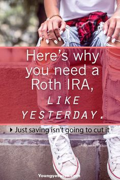Why you need a roth IRA like yesterday, saving your money isn't going to cut it. Investing is the only way you'll be able to reach your money goals faster. This post really helped me understand Roth IRA's in simple terms. Ways To Save Money, Money Tips, Money Saving Tips, Ambition, Saving For Retirement, Retirement Planning, Retirement Funny, Early Retirement, Roth Ira