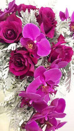 Floral Wedding, Wedding Colors, Wedding Bouquets, Wedding Events, Weddings, Greece Wedding, Pink Orchids, Send Flowers, Event Decor