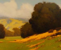 """""""Rolling Oaks & Poppies"""" - 24"""" x 30"""" - Brian Blood - Oil on Canvas"""
