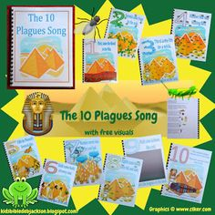 Bible Fun For Kids: Moses  The 10 Plagues Song Flipchart and mini book