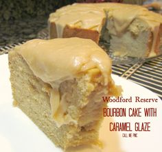 Offering a rich, bold flavor of bourbon, this cake is not for the faint of heart! Woodford Reserve Bourbon Cake with Caramel Glaze Cookie Desserts, Just Desserts, Delicious Desserts, Yummy Food, Winter Desserts, Bourbon Cake, Whiskey Cake, Bourbon Recipes, Cake