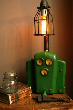John Deere Dash Light Lamp Steampunk Industrial Tractor Farm Machine Age