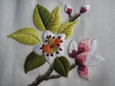 by Chris Richards Embroidery Needles, Hand Embroidery Stitches, Crewel Embroidery, Embroidery Techniques, Ribbon Embroidery, Cross Stitch Embroidery, Border Embroidery Designs, Embroidery Patterns, Hand Embroidery Projects
