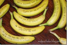 Bananas with cute sayings