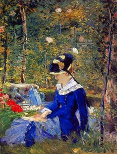 Édouard Manet (French, 1832-1883) - Young Woman in the Garden, 1880