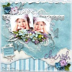 Bo Bunny Garden Journal Papers. Cherish By Di Garling - Layout Gallery