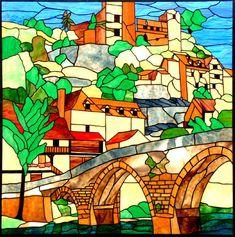 """Belcastel"" ruins of a French castle on a hillside"