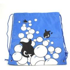 Childrens Kids Cartoon Drawstring Bag Gym Swimming Swim Backpack Blue