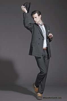 Matt Smith. I swear he really looks a bit goofy looking sometimes, but being the Doctor brings in some major appeal ;)
