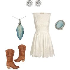 Love cowboy boots and a dress