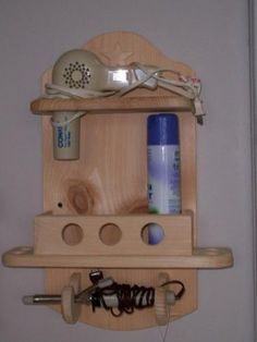 24 Gorgeous Bathroom Storage and Wall Shelves For Bathroom Inspiration Small Bathroom Shelves, Diy Wall Shelves, Floating Shelves Diy, Wood Shelf, Hanging Storage, Wall Storage, Space Saving Bathroom, Hair Dryer Holder, Small Wood Projects
