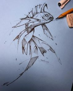 Psdelux is a pencil sketch artist based in Tatabánya, Hungary. He usually draws animal sketches. Psdelux also makes digital drawings. Fish Drawings, Art Drawings Sketches, Cool Drawings, Drawing Faces, Realistic Drawings, Pencil Drawings, Animal Sketches, Animal Drawings, Arte Sketchbook