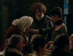 """Claire Fraser (Caitriona Balfe) and Jamie (Sam Heughan) in """"By The Pricking of My Thumbs"""" Episode 1x10 of Outlander on Starz via http://outlander-online.com/2015/04/12/1880-uhq-1080p-screencaps-of-episode-1x10-of-outlander-by-the-pricking-of-my-thumbs/"""