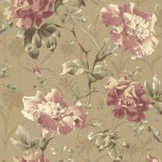 """Beacon House Home Juliana Vintage 33' x 20.5"""" Floral 3D Embossed Wallpaper"""