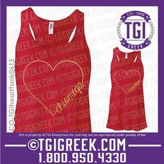 TGI Greek - Chi Omega - Sorority PR - Tanks - Greek T-shirts - Bid Day Gifts #tgigreek #chiomega #bidday
