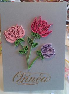 Roses by quilling
