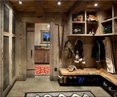 Ski Room/Mudroom, reclaimed wood