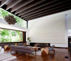 Wohnzimmer Holz Modern Einrichten Designer Couch