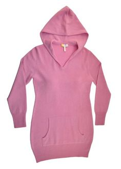 Pink Sand Cashmere Long Hooded Sweatshirt | HeartHabits Deliciously Beautiful Things to Wear