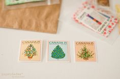 vintage stamps by send more mail