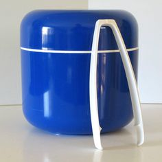 Decor Original Capsule ice Bucket & Tongs by Tony Wolfenden, Australia c.1970s