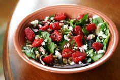 raspberry almond summersalad - get in me NOW ♥♥