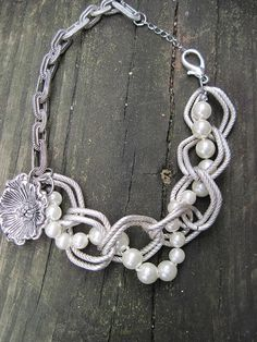 Pearly Girly   Boot Jewelry an  Anklet for by vintagevampjewelry, $40.00
