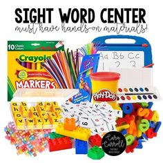 Must have materials for every sight word center!  Hands-on multi-sensory supplies make learning and practicing sight words irresistible!!