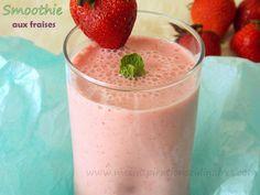 Smoothie fraises lait de coco