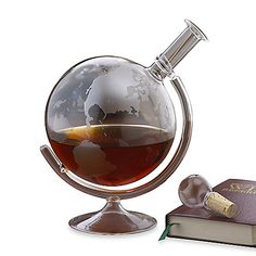 Wine Enthusiast Etched Globe Spirits Decanter (bbb $50 / kohl's $47)