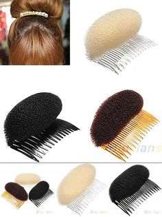[Visit to Buy] 2016 3pcs/lot Hair Styler Volume Bouffant Beehive Shaper Roller Bumpits Bump Foam On Clear Comb Xmas Accessories 02CO 4GOP 8LUL #Advertisement