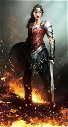 THIS is totally a Wonder Woman movie that I would see.  She is strong, confident, poweful, and there is a distinct influence of Greek Hoplite in her armor.  Tons of other pictures in the link, bit this is my favorite!