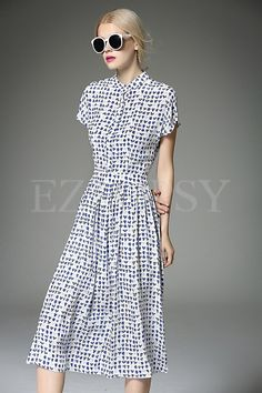Shop for high quality Short Sleeve Print Maxi Dress online at cheap prices and discover fashion at Ezpopsy.com