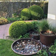 Tropical Landscaping, Backyard Landscaping, Bird Bath Garden, Garden Art, Container Water Gardens, Garden Works, Water Features In The Garden, Garden Landscape Design, Dream Garden