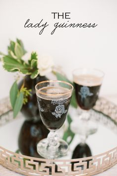 A ladylike Guinness drink, perfect for St. Patrick's Day!