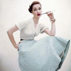 Fashion by Greta Plattry, 1951. Photo by Clifford Coffin.