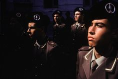 Students at Nunziatella, an elite military academy. Rain Photography, Color Photography, David Alan Harvey, Andre Kertesz, Edward Weston, Military Academy, Robert Doisneau, Minimalist Photography, Ansel Adams