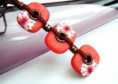 Collier en pâte fimo: collier Floral collier fleur de