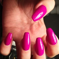 Such a beautiful colour flaming purple coffin shaped nail by me Fall Acrylic Nails, Autumn Nails, Acrylic Nail Designs, Nails 2016, Coffin Shape Nails, Get Nails, Shellac, Long Nails, Shapes