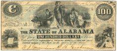 Alabama Confederate Money CR12 One Hundred Treasury Note Fine