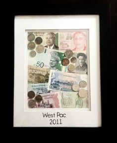 Frame the foreign money your Sailor brings home from deployment..