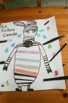 La cebra Camila Zebras, Cards, Ideas, Children's Literature, Short Stories, Infant Activities, Storytelling, Classroom, Map