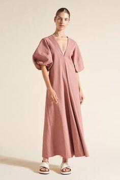 the Queenie – Lee Mathews Simple Dresses, Dresses With Sleeves, Short Dresses, Linen Dress Pattern, Pakistani Fashion Casual, Fashion Designer, Tiered Dress, African Fashion, Ankara Fashion